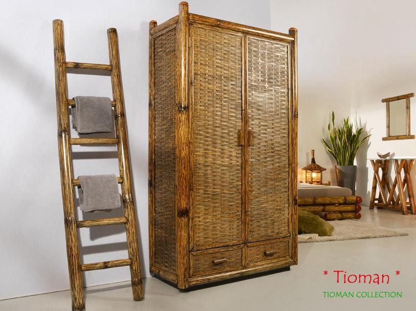 Bambus Kleiderschrank Tioman