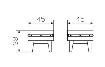 Massivholz Nachttisch Butch Hasena – Bild 3