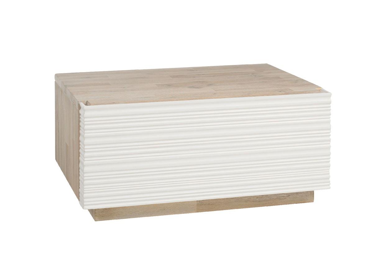 Massivholz Nachtkommode Preo mit Schublade