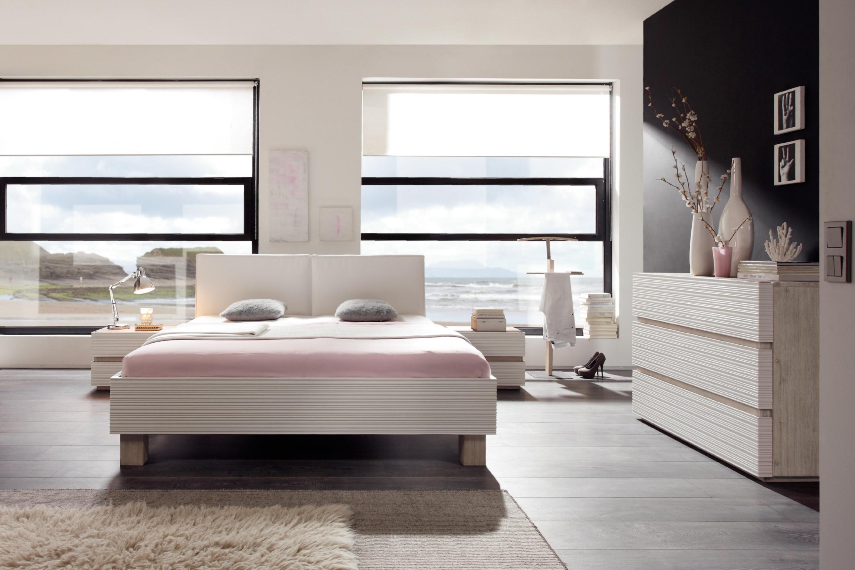 Comfort Wasserbett mit Akazie-Rahmen Ivio & Kopfteil