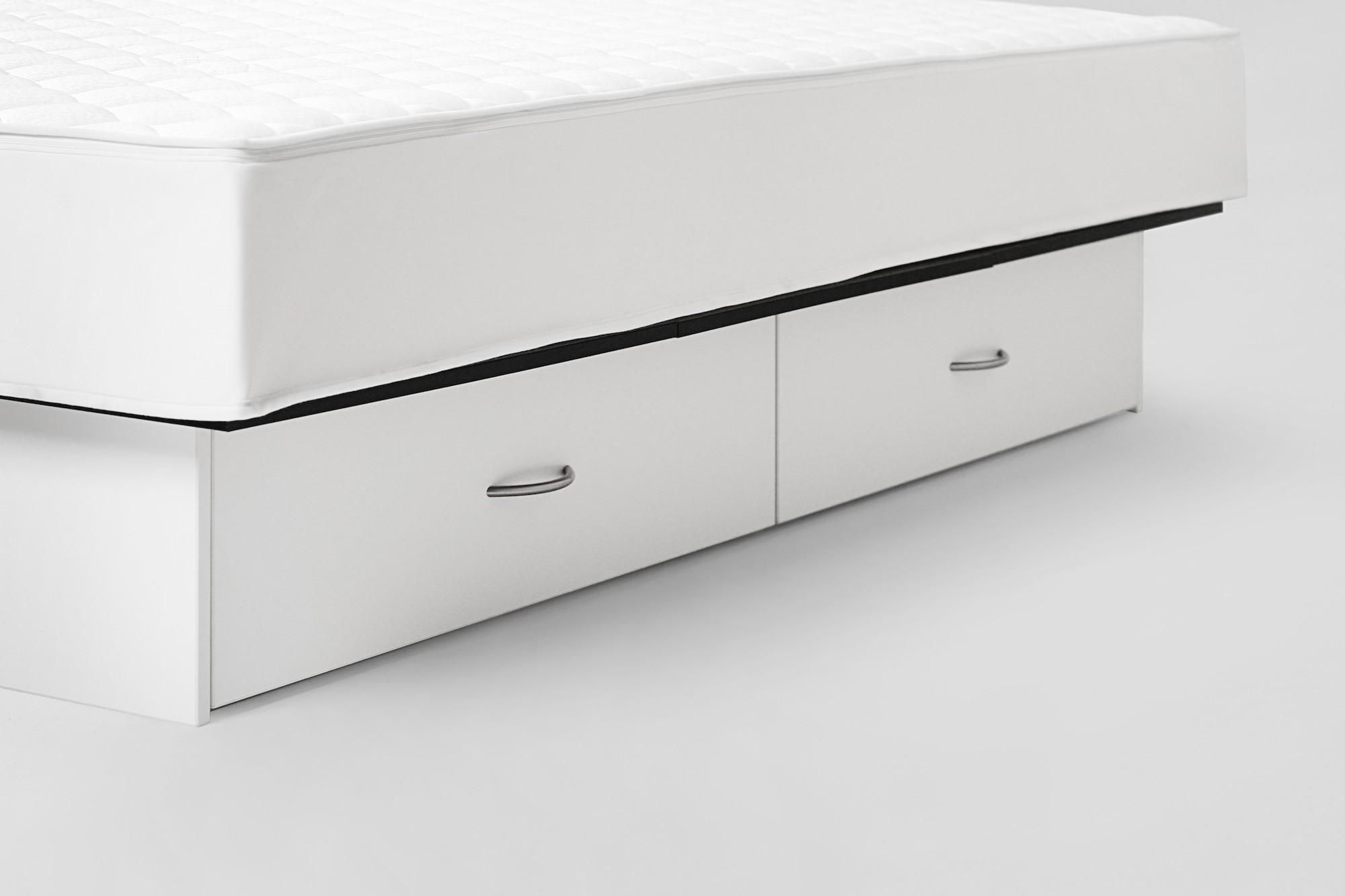 luxus wasserbett mit xl schubladenpodest weiss. Black Bedroom Furniture Sets. Home Design Ideas