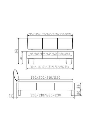 Comfort Wasserbett mit Polsterumrandung & Kopfteil, Tobus – Bild 2