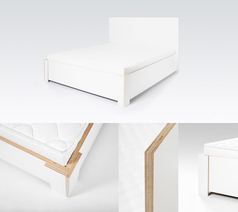 Comfort Wasserbett inkl. Holzdekor Bettrahmen & Kopfteil