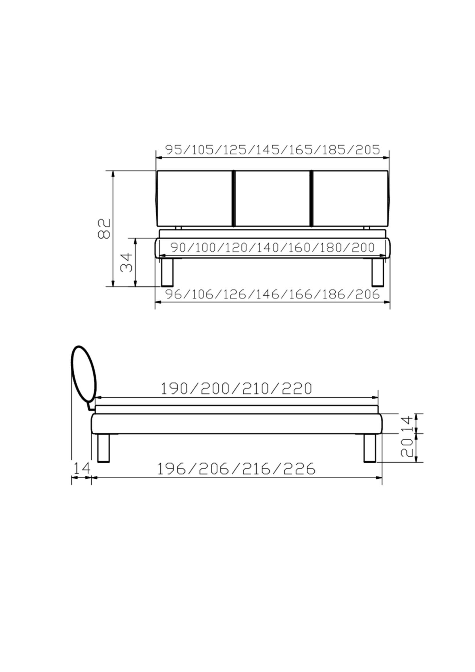 Luxus Mesamoll II Wasserbett mit Bettrahmen & Kopfteil, Mico Soft-Line