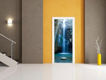 """Ganzglastür """"Wasserfall"""", ESG 8mm – Bild 2"""