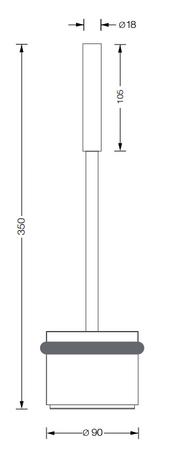 Türstopper für Glastüren mit Griffstange, Rutschfest – Bild 2