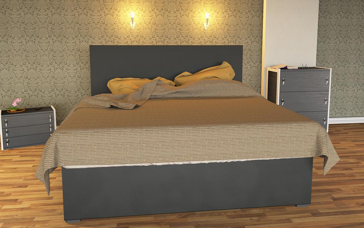 Boxspring Wasserbett Luxus Schwarz inkl. Bettrahmen & Kopfteil - LUXBOX Black