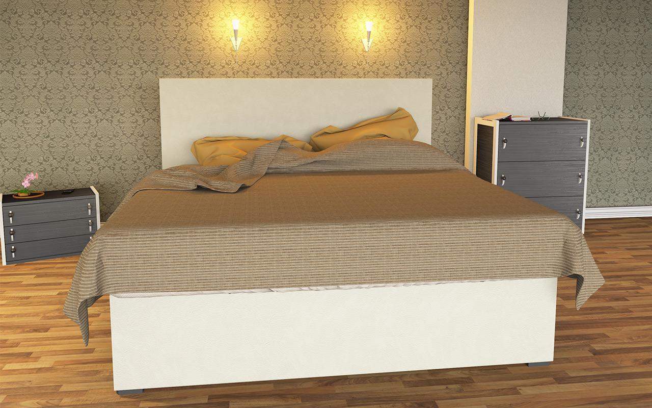 Wasserbett luxus  Boxspring Wasserbett Luxus Weiss inkl. Bettrahmen & Kopfteil ...