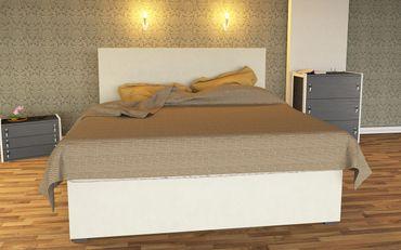 Boxspring Wasserbett Luxus Weiss inkl. Bettrahmen & Kopfteil - LUXBOX White – Bild 1