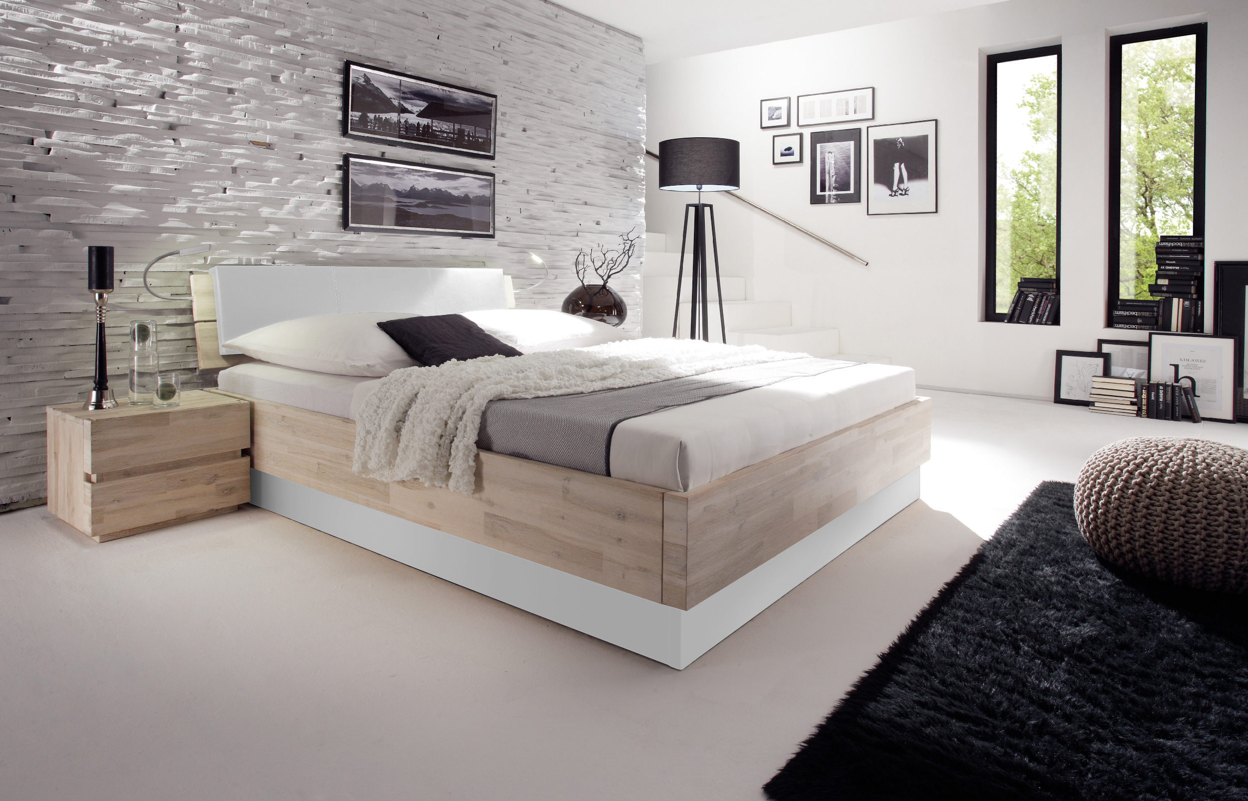 luxus wasserbett inkl bettrahmen practico prestige kopfteil white. Black Bedroom Furniture Sets. Home Design Ideas