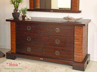 Bambus Sideboard Shiva (6 Schubladen)