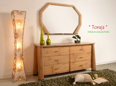 Bambus Sideboard Toraja (6 Schubladen) - natur  – Bild 3