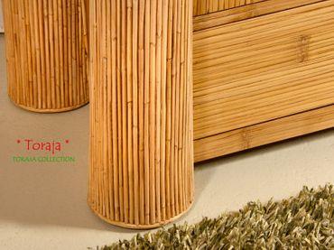 Bambus Kleiderschrank Toraja - dunkel – Bild 3