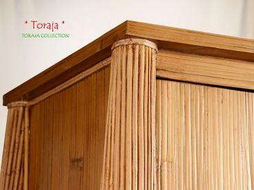 Bambus Kleiderschrank Toraja - dunkel – Bild 4