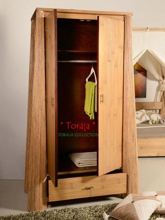 Bambus Kleiderschrank Toraja - dunkel – Bild 7