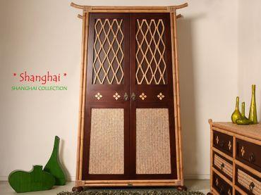 Bambus Kleiderschrank Shanghai - Asia Style – Bild 1