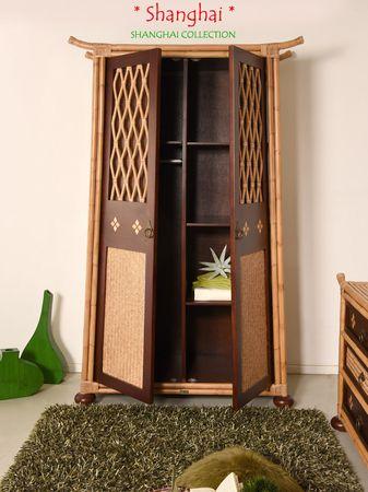 Bambus Kleiderschrank Shanghai - Asia Style – Bild 7