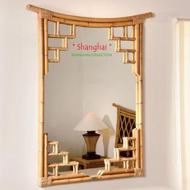 Bambus Wandspiegel Shanghai