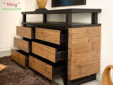 Bambus Sideboard Ming (6 Schubladen) – Bild 6
