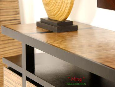 Bambus TV-Sideboard Ming (3 Fächer, 4 Türen) – Bild 6