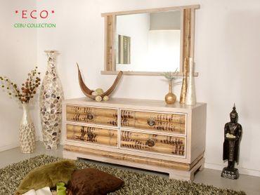 Bambus Wandspiegel Cebu Eco hell – Bild 4