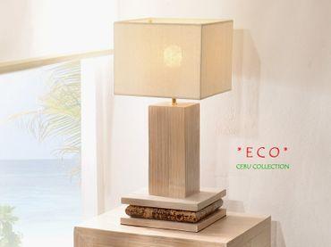 Bambus Nachttischlampe Cebu Eco, hell