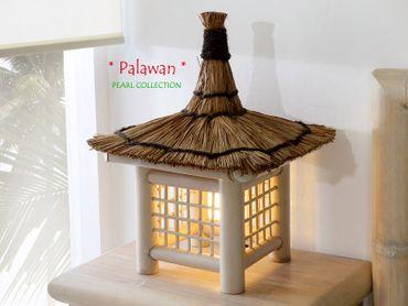 Bambus Nachttischlampe Cebu Palawan Pearl