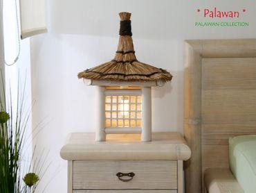 Bambus Nachttischlampe Cebu Palawan Pearl – Bild 2