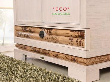 Bambus Kleiderschrank Cebu Eco hell – Bild 3