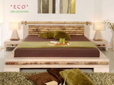 Bambus Nachtkonsole Cebu Eco hell, flach mit 1 Schublade – Bild 5