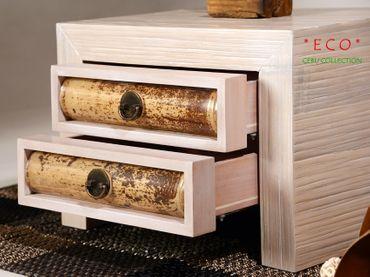 Bambus Nachtkonsole Cebu Eco mit 2 Schubladen – Bild 2