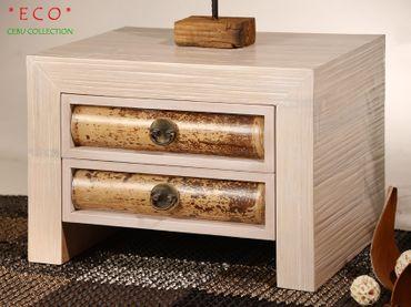 Bambus Nachtkonsole Cebu Eco mit 2 Schubladen – Bild 6