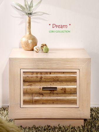 Bambus Nachtkonsole Cebu Dream hell mit 1 Schublade – Bild 5