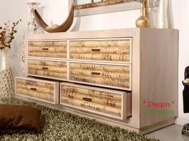 Bambus Sideboard Cebu Dream, hell (6 Schubladen) – Bild 3