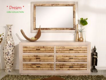 Bambus Sideboard Cebu Dream, hell (6 Schubladen) – Bild 4