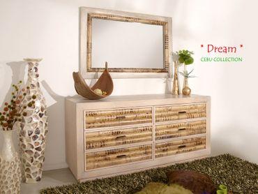 Bambus Sideboard Cebu Dream, hell (6 Schubladen) – Bild 6