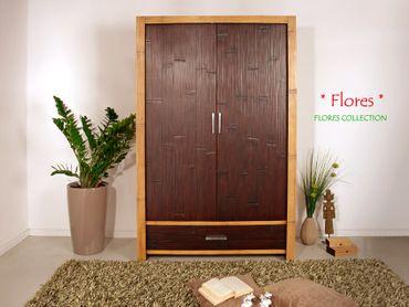 bambus kleiderschrank flores 2 t ren. Black Bedroom Furniture Sets. Home Design Ideas