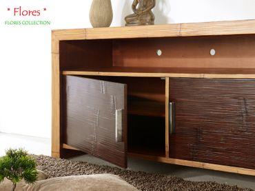 Bambus Designer TV-Kommode Flores (2 Türen) – Bild 4