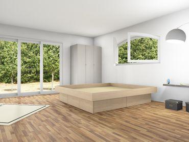 4er Schubladensockel Podest für Wasserbetten inkl. Umrandung, Tiptronic