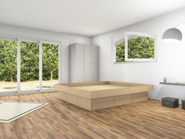 6er Schubladensockel Podest für Wasserbetten inkl. Umrandung, Tiptronic – Bild 7