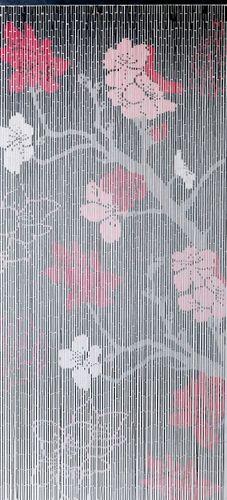 Türvorhang Bambus Vorhang Bambusvorhang Kirschblüte Raumteiler Fliegenvorhang – Bild 2