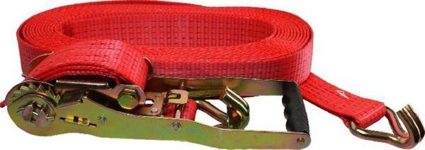 PROFI Spanngurt/Ladungs-Sicherungsgurt 10 m lang 50 mm breit mit Ratsche u. 2 Spitzhaken