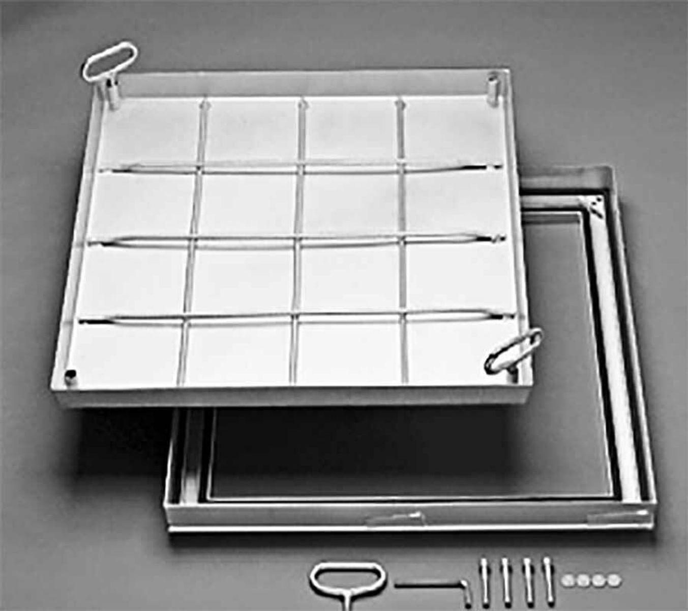 ACO Schachtabdeckung 0,4x0,6m lichte Fläche (Außen 542x742mm) Kanaldeckel  Schachtdeckel |
