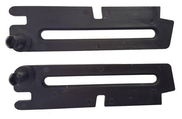 Scheren Paar kurz braun für ACO Kippfenster Kippregler Fenster Feststeller Klemmträger