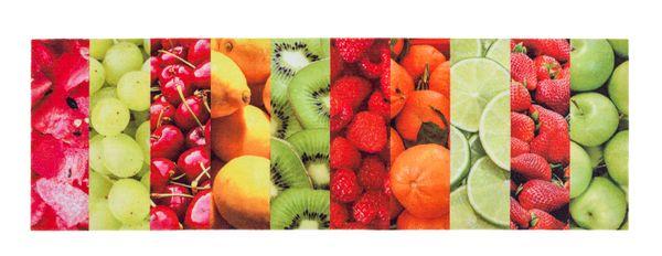 Küchenmatte Obst bunt Fussmatte Schmutzmatte Küchenteppich Küche Laüfer Teppich Vorleger Matte – Bild 1