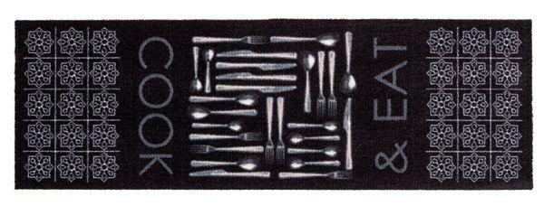 Küchenmatte schwarz Küchenteppich Teppichläufer Küche Laüfer Teppich Küchenläufer Wohnraummatte – Bild 1