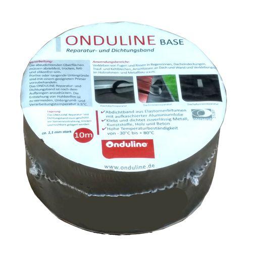 10m Onduline Dichtungsband Reparaturband Aluminium Blei 75mm breit Bitumenband Dichtband