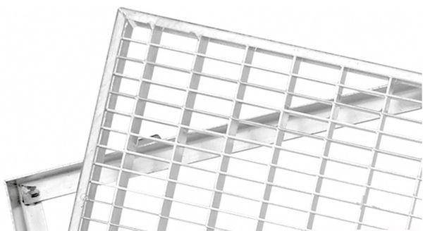 Schuhabstreifer Gitterrost Rost mit Zarge MW 30/10 Abstreiferrost Fußabstreifer 100x25 cm