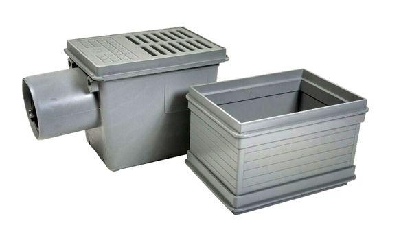 RUG Kellerablauf DN110+Aufsatzstück Rückstauverschluß Bodenablauf Rückstauklappe – Bild 1