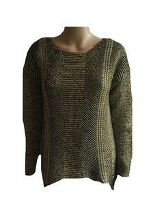 Damen Pullover Pulli Strick Dresses Unlimited Schwarz Gold Gr. 38 - 48  NEU